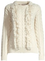 Tory Burch Fringe Eco Wool Sweater