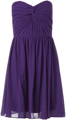 Minuet Women's Twist Ruched Bodice Short Dress