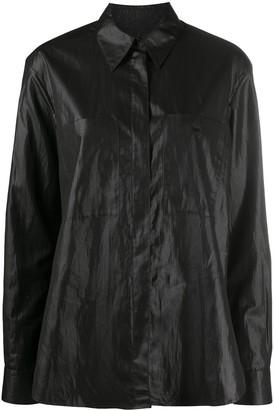 YMC Patch-Pocket Oversized Shirt