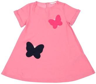 Il Gufo Butterflies Cotton Jersey Dress