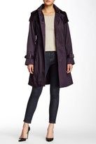 London Fog Water Repellent Hooded Trench Coat