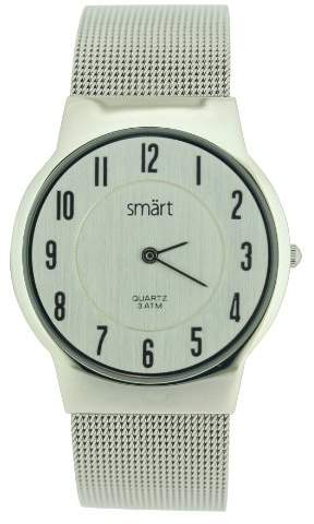 Gents Smart Watch With Silver Colour Analogue Dial