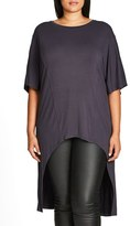 City Chic High/Low Top (Plus Size)