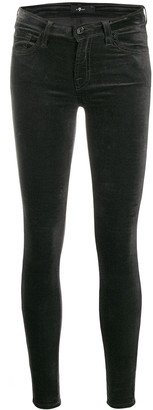 7 For All Mankind Low-Rise Skinny Trousers