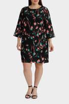 Oriental Blossom Shift Dress