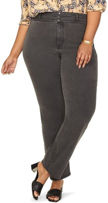 NYDJ Marilyn Straight Leg Paneled Waist Jeans (Plus Size)