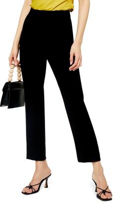 Topshop Straight Leg Cigarette Pants