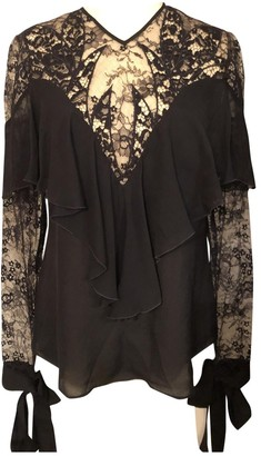 Elie Saab Black Lace Top for Women