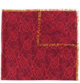 Vivienne Westwood logo print frayed scarf