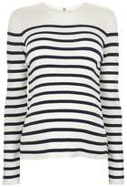 Maternity stripe zip back jumper