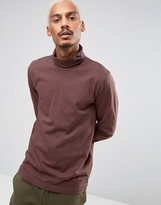 Puma Longsleeved Turtleneck T-Shirt In Brown 57444002