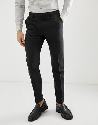 Tommy Hilfiger slim fit suit trouser-Black