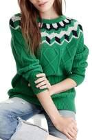 J.Crew Women's Wide Neck Fair Isle Sweater