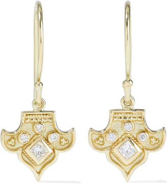 Amrapali Heritage Fleur 18-karat Gold Diamond Earrings