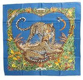 "Hermes jungle Love"""" By Robert Dallet Silk Scarf."