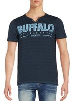 Buffalo David Bitton Logo Henley Tee