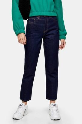 Topshop Raw Denim Indigo Jeans