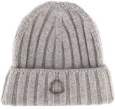 Moncler logo woven beanie hat