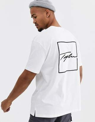 Topman Signature t-shirt with print in white