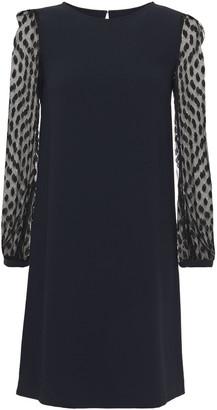 Claudie Pierlot Point D'esprit-paneled Crepe Mini Dress