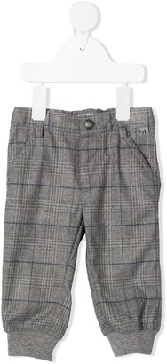 Il Gufo Checkered Slim-Fit Trousers