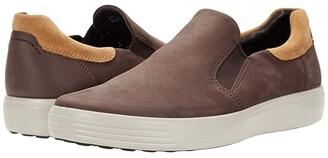 Ecco Soft 7 Street Slip-On (Black/Magnet) Men's Shoes