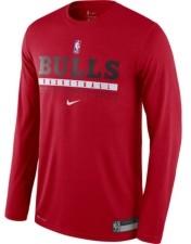Nike Men's Chicago Bulls Practice Long-Sleeve T-Shirt