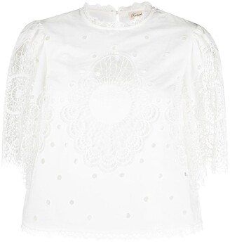 Temperley London Judy lace insert top