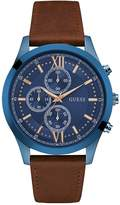GUESS Brown and Blue Chronograph Watch