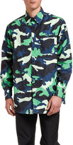 Valentino Men's Camo Long-Sleeve Overshirt
