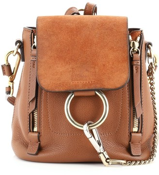 Chloé Faye Backpack Leather and Suede Mini