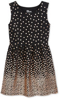 Epic Threads Girls' Gold Dot Fit-and-Flare Dress, Only at Macy's