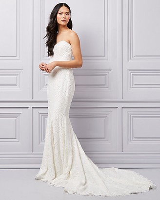 Le Château Corded Lace Strapless Gown