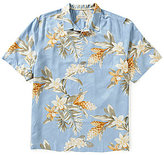 Tommy Bahama Guava Garden Print Short-Sleeve Silk Shirt