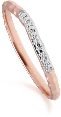 Gemondo Diamond Pave Ring Band In 9Ct Rose Gold
