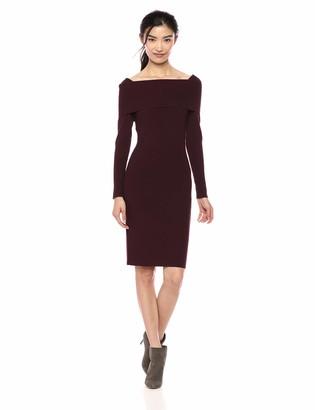 Lark & Ro Women's Long Sleeve Bateaux Neck Sweater Dress