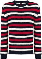 Piombo Mp Massimo striped chunky sweater