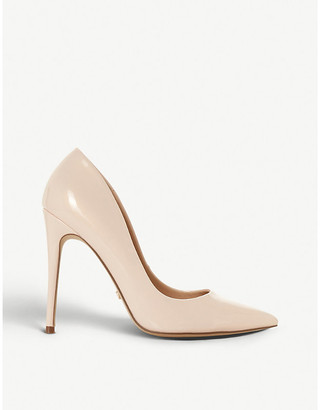 Dune Astrid pointed-toe stiletto-heel faux patent-leather courts