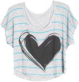 Delia's Workshop Neon Stripe Heart Tee