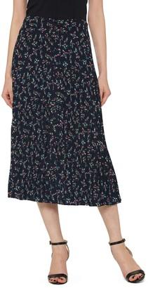 Pleione Pleated Elastic Waist Skirt