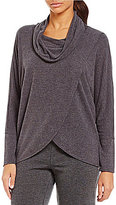 Calvin Klein Brushed Knit Jersey Cowl Neck Dolman Sleeve Top