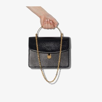 BIENEN-DAVIS navy Charlie leather tote bag