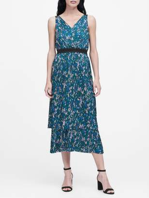 Banana Republic Pleated Tiered Midi Dress