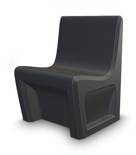 Cortech USA Sentinel Stackable Chair Finish: Black