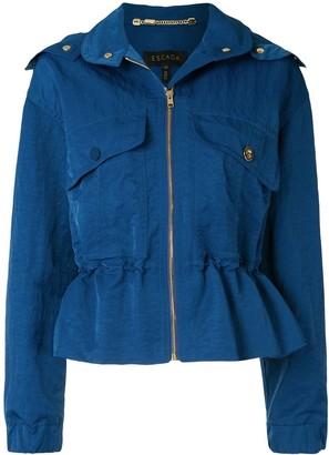 Escada Drawstring-Waist Hooded Jacket