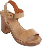 Mia Girl Manuela Faux-Wood Heel Sandals