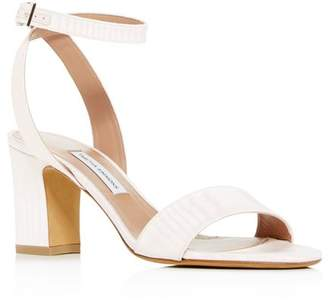 Tabitha Simmons Women's Leticia Ankle Strap Block-Heel Sandals