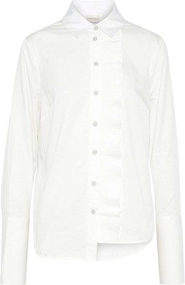 Zimmermann Asymmetric Cotton-poplin Shirt