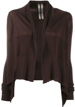 Rick Owens Cropped Waterfall Cardigan
