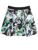 Milly Minis 'Katie' Floral Print Skirt (Big Girls)